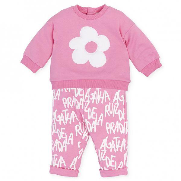Picture of Agatha Ruiz De La Prada Baby Girls Baby Pink Leggings Set