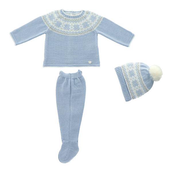 Picture of Martin Aranda Blue Knitted Set with Hat