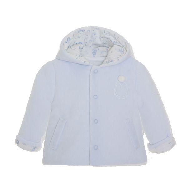 Picture of Pom Petit Pom Baby Boys Blue Velour Jacket