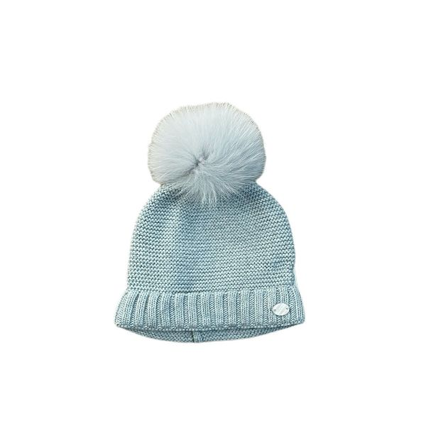 Picture of Martin Aranda Blue Hat with Fur Pom Pom