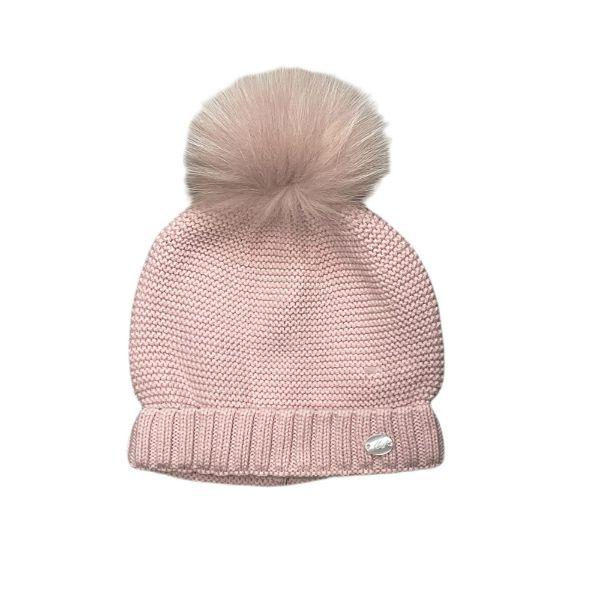 Picture of Martin Aranda Pink Hat with Fur Pom Pom
