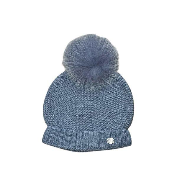 Picture of Martin Aranda Dark Blue Hat with Fur Pom Pom