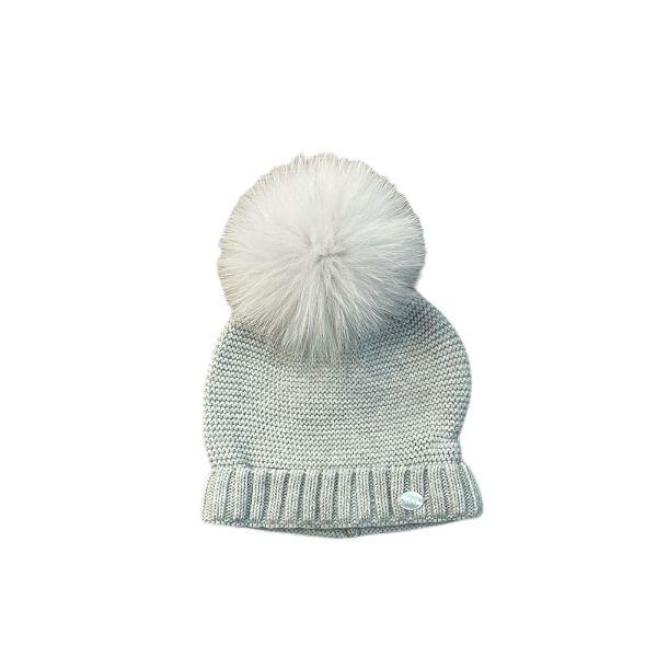 Picture of Martin Aranda Grey Hat with Fur Pom Pom