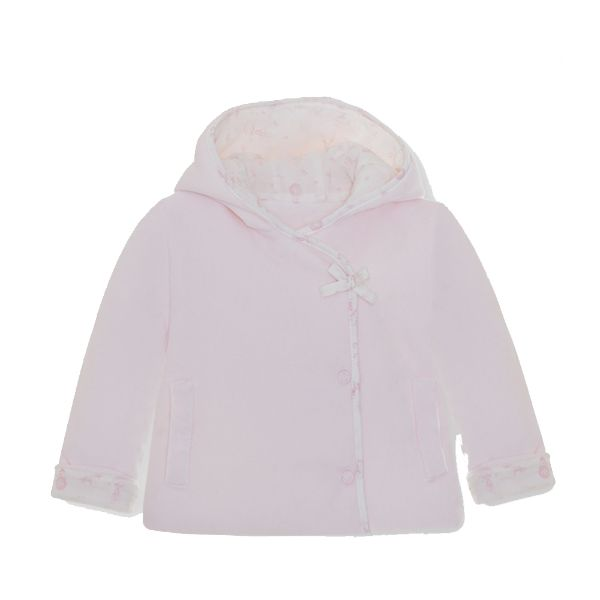 Picture of Pom Petit Pom Baby Girls Pink Velour Jacket