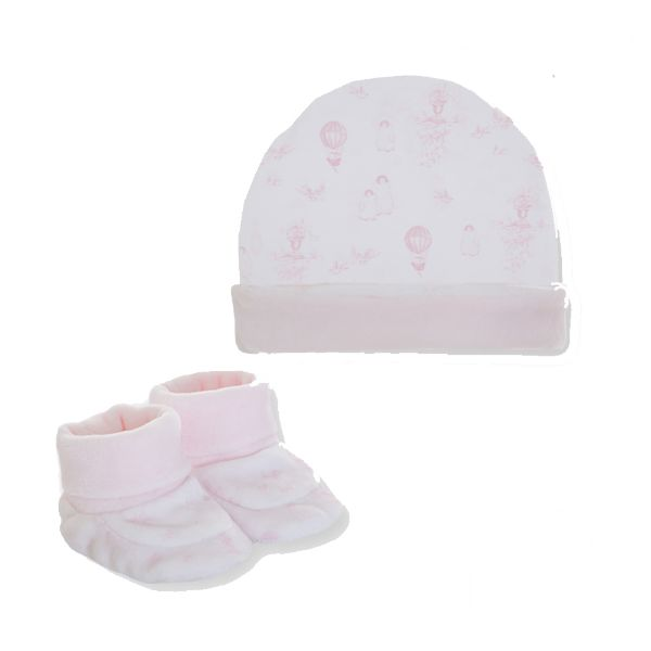 Picture of Pom Petit Pom Baby Girls Hat & Booties Set