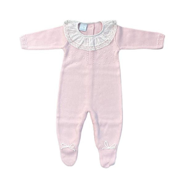 Picture of Granlei Girls Pink Knitted Romper