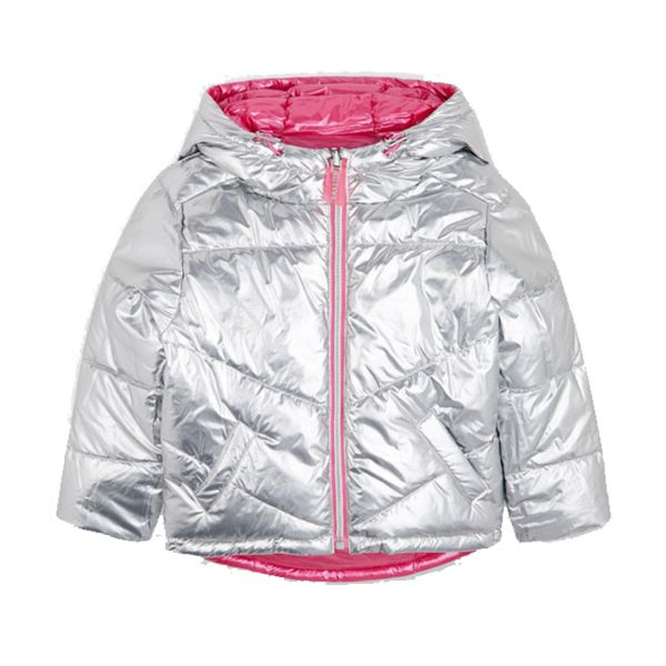Picture of Mayoral Girls Silver & Pink Reversible Coat