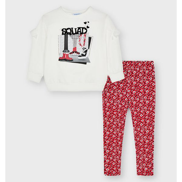 Picture of Mayoral Girls 'Squad' Red Leggings Set