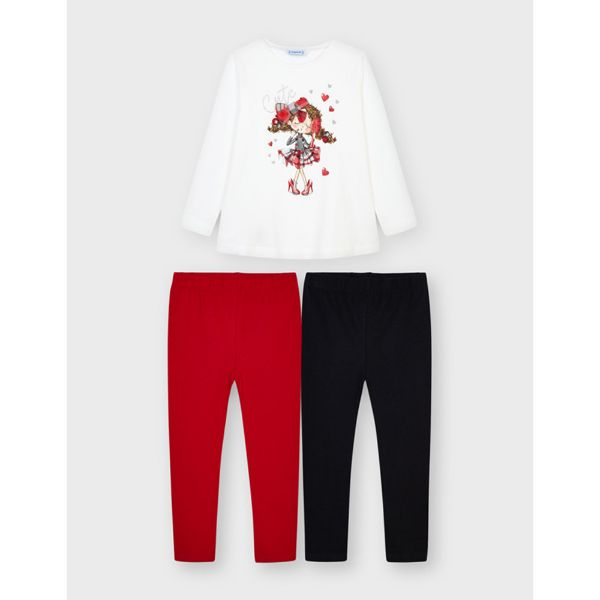 Picture of Mayoral Girls 'Cute' Red Leggings Set
