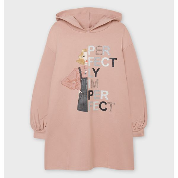 Picture of Mayoral Girls Pink Jumper Dress