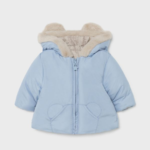 Picture of Mayoral Baby Boys Blue Reversible Coat