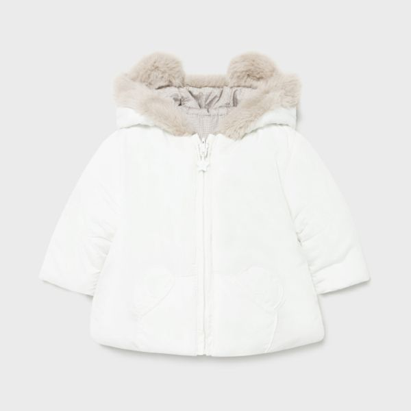 Picture of Mayoral Baby Boys Cream Reversible Coat