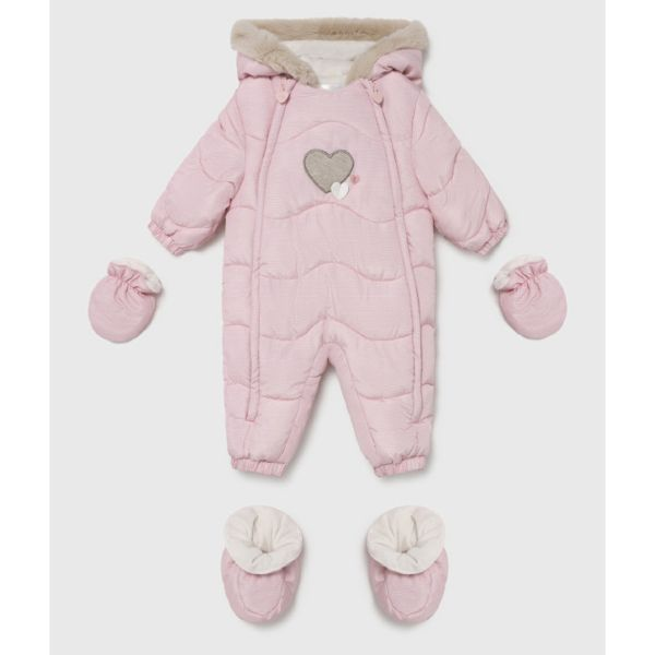 Picture of Mayoral Baby Girls Pink Pram Suit