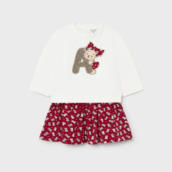 Picture of Mayoral Baby Girls Red & Cream Dress