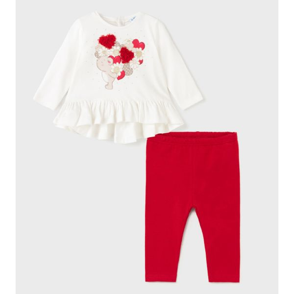 Picture of Mayoral Baby Girls Red Leggings Set