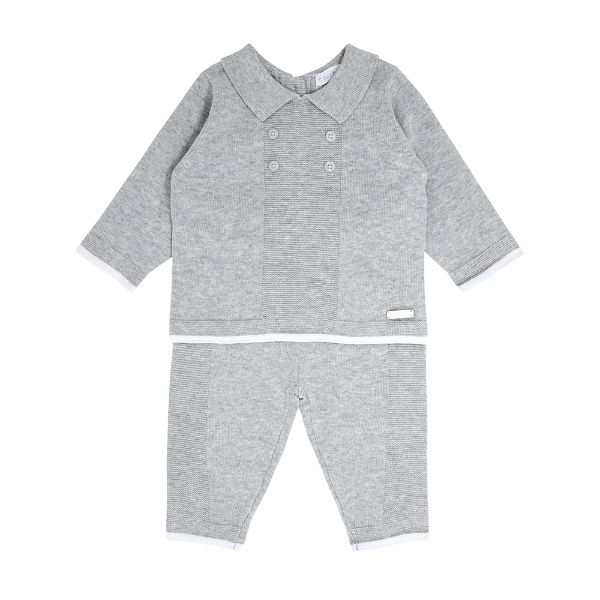 Picture of Blues Baby Grey Knitted Tracksuit