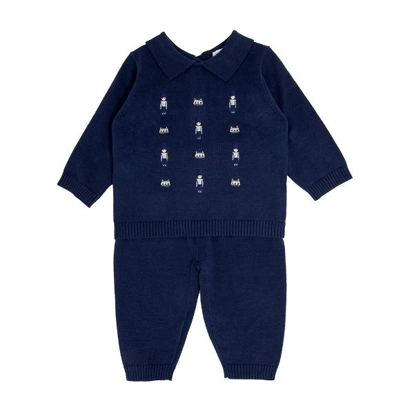 Picture of Blues Baby Navy Soldier 2 Piece Knitted Set