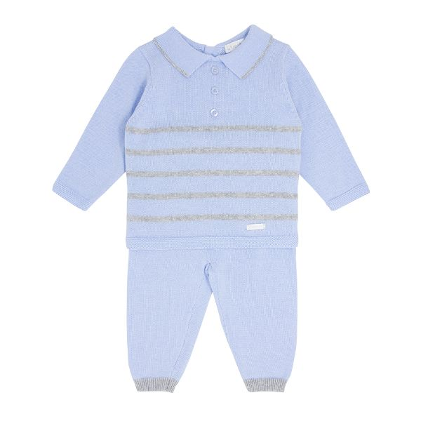 Picture of Blues Baby Blue Striped Knitted Tracksuit