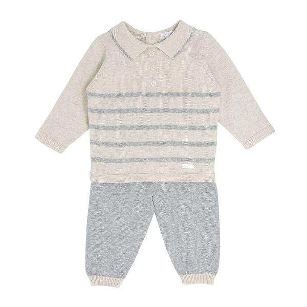 Picture of Blues Baby Grey Striped Knitted Tracksuit